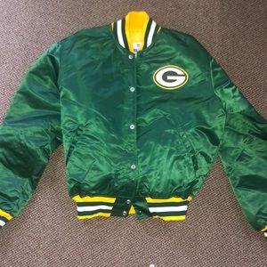 Green Bay Packers satin bomber jacket
